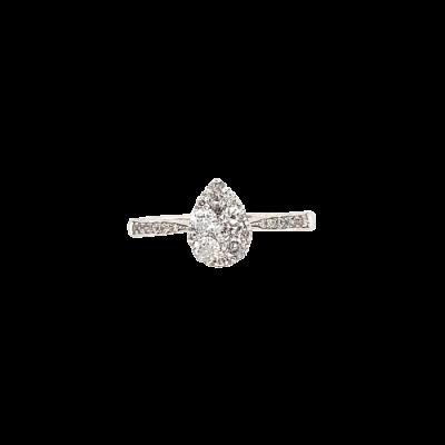 Anel Gota Diamantes