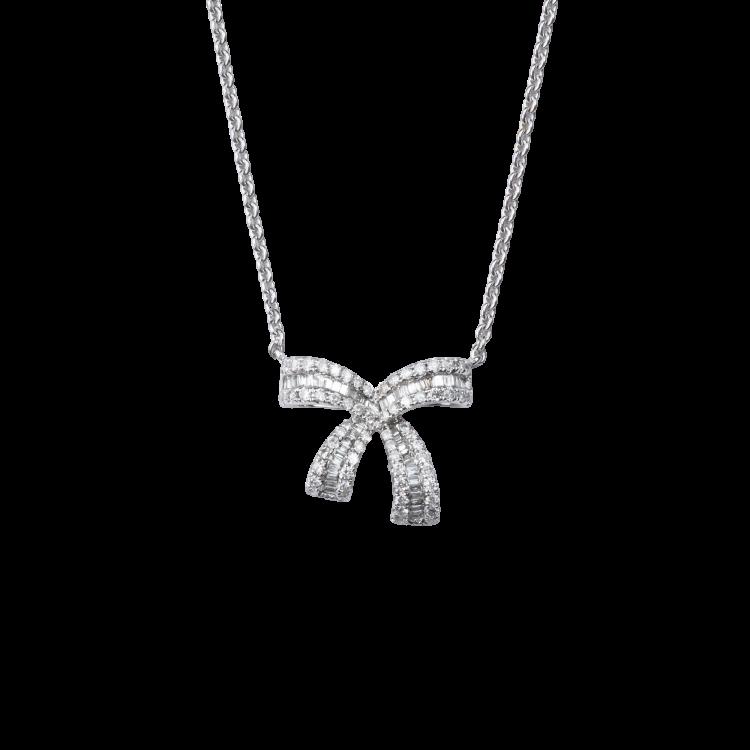 Colar Laços de Diamantes