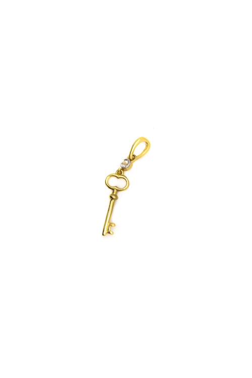 Pingente Chave com Topázio em Ouro Amarelo