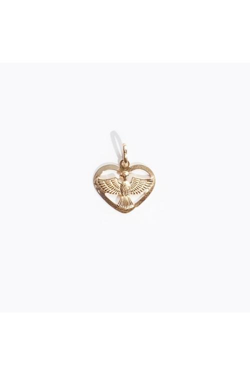 Pingente Coração Divino em Ouro Amarelo