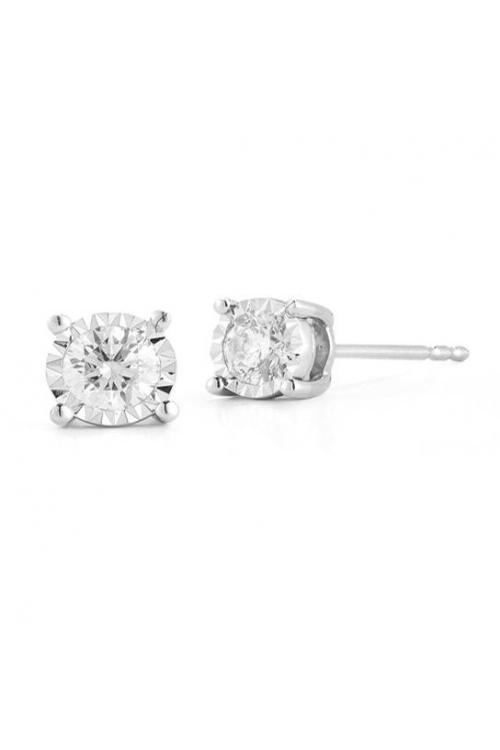 Brincos Mirror com Diamantes em Ouro Branco