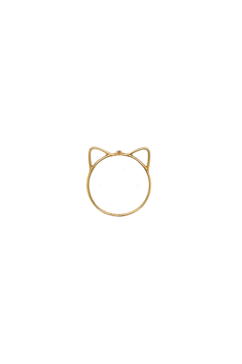 Anel de gatinho com diamante