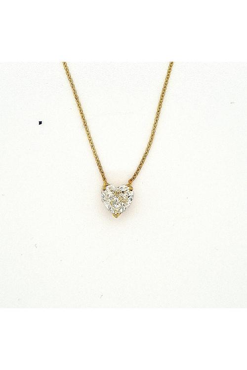Gargantilha Coração de Diamante